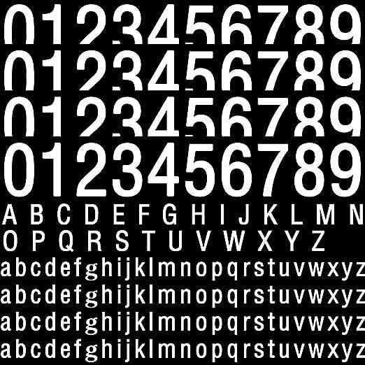 Details about  /2 Wheelie Bin Numbers Stickers Self Adhesive Stick On numbers 6 inch bin numbers