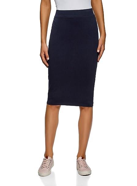 oodji Ultra Mujer Falda-Lápiz (Pack de 2), Azul, ES 34