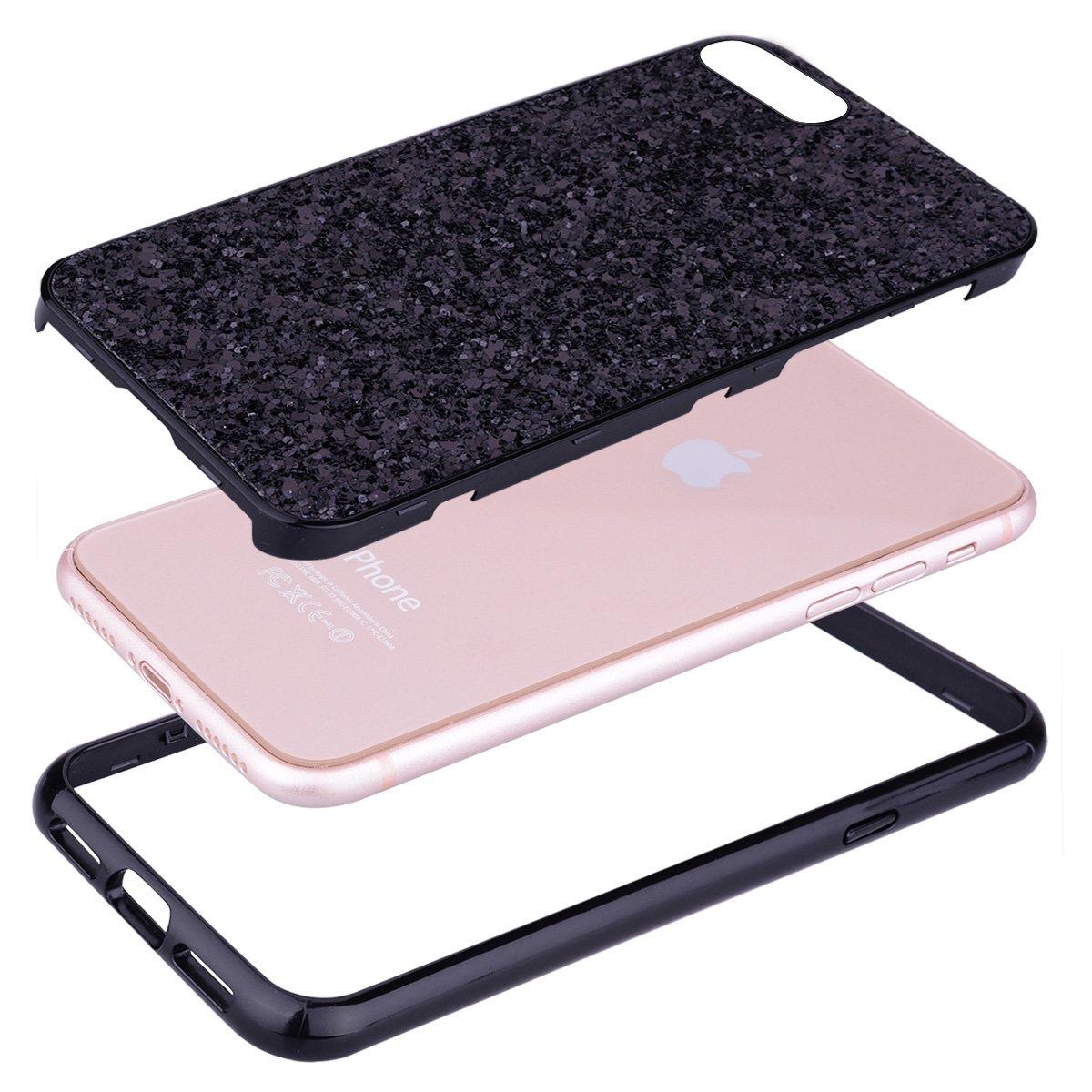 Or Rose Coque iPhone 6S Plus,Coque iPhone 6 Plus,Miroir Housse Coque Silicone TPU pour iPhone 6 Plus 6S Plus,Surakey Bling Briller Diamond Coque Miroir Etui TPU T/él/éphone Coque pour iPhone 6//6S Plus