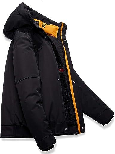 Aire Libre para Caminar Ropa de Abrigo Resistente al Agua de Tela con Forro Polar Mountain Warehouse Chaqueta de Softshell Arctic II para Hombre Acampar