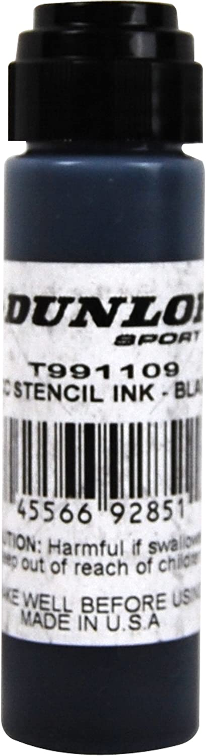 Amazon.com: Dunlop Sports Dunlop Racquet Stencil Ink (Black ...