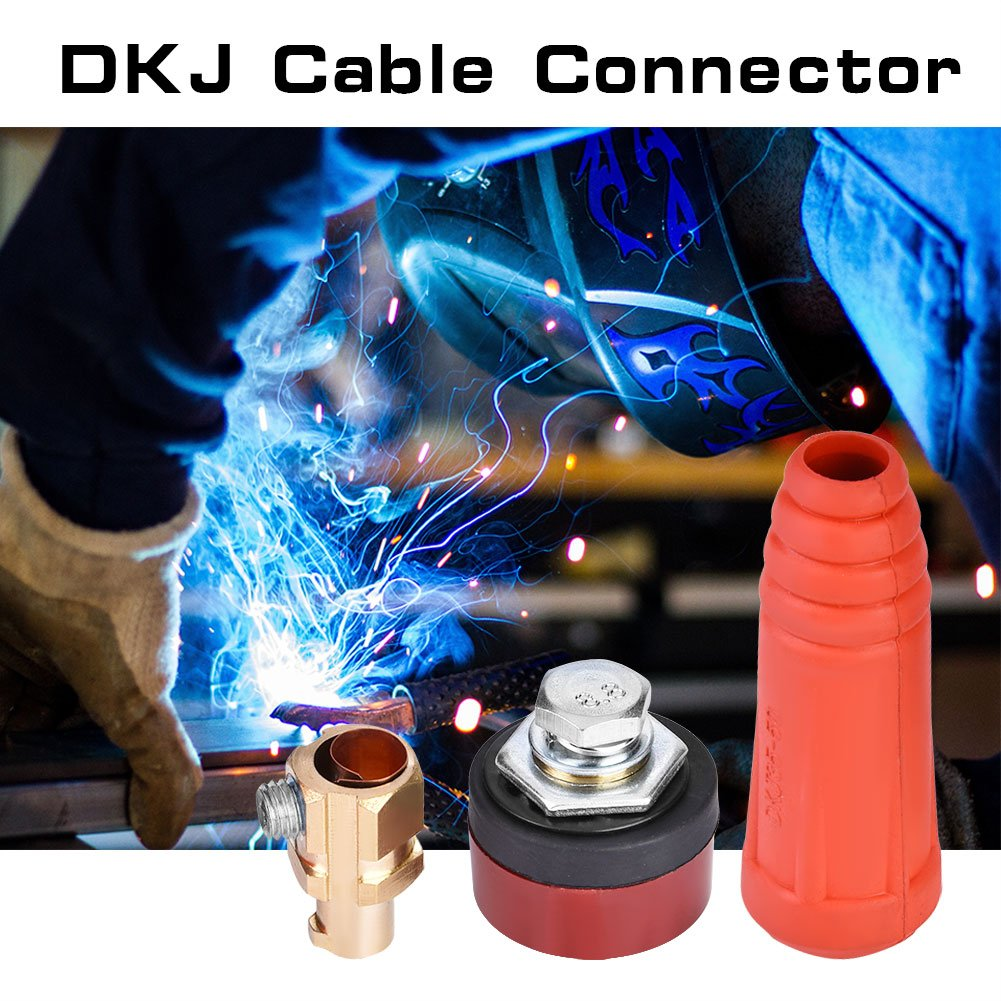 DKJ35-50 Red Cable de Soldadura Estilo Europeo de la Serie DKJ Conector R/ápido Enchufe Macho y Enchufe del Panel Adaptador de Montaje R/ápido