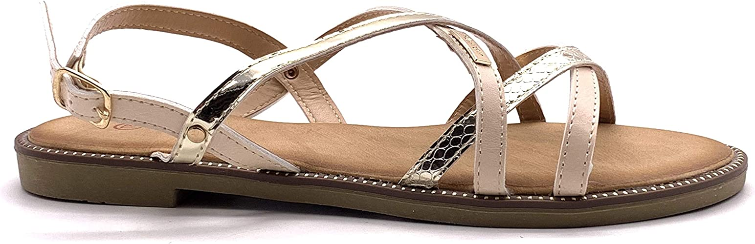 Pieds Angkorly Casual Chaussure Sandale Mode Plate de Nu SVjzMpGqUL