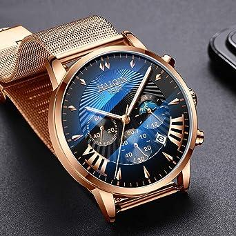 Relojes Hombre Hombres Relojes Mecánicos De Moda para Hombre Reloj De Pulsera Deportivo para Hombre Reloj De Cuarzo Impermeable para Hombre 8707Gb España: Amazon.es: Relojes