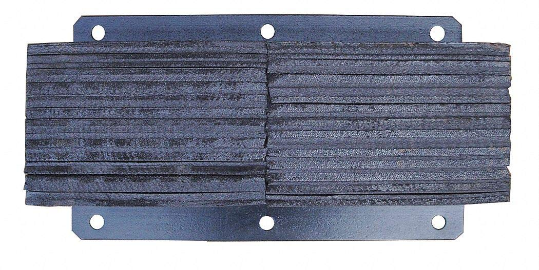 Rectangular Rubber Dock Bumper, 24''H x 13''W x 6''D