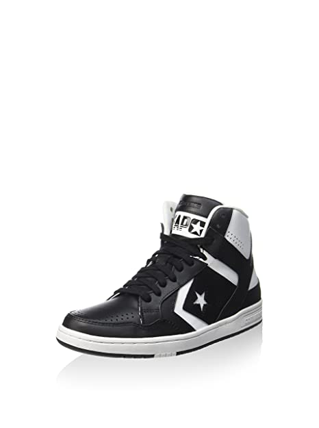 dcbc3a23790 Converse Weapon Leather MID Black White