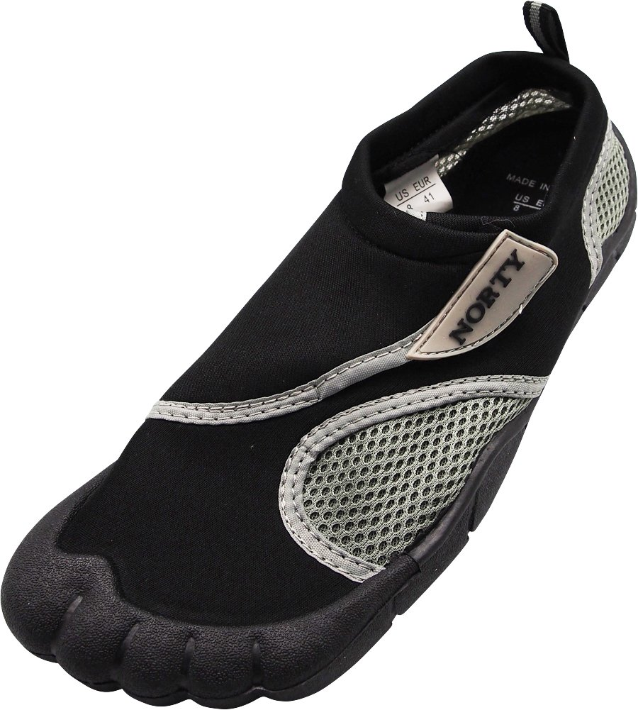 NORTY - Mens Skeletoe Aqua Water Shoe, Black 40306-10D(M) US