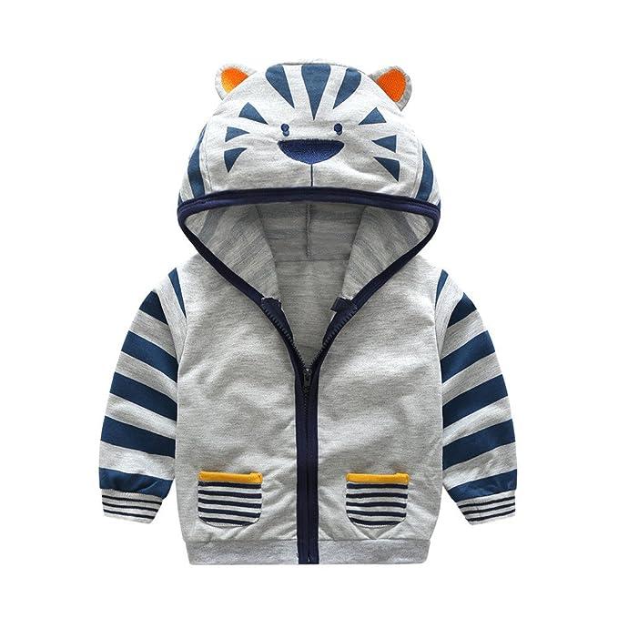 Amazon.com: Moonper Kid Infant Toddler Baby Boys Girls Winter Cartoon Animal Hooded Zipper Tops Clothes Coat Sweaters (12M(6-12M), Gray): Clothing