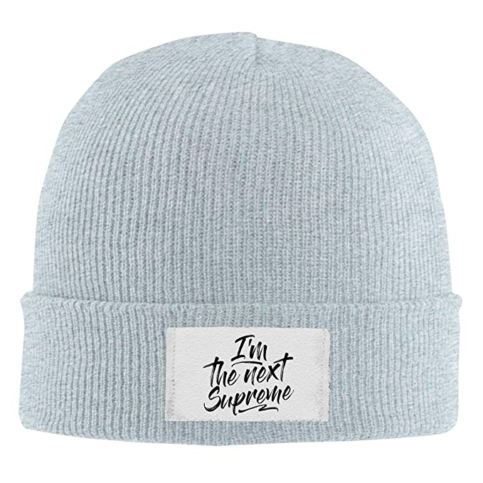 70140ebca63 Amazon.com  Beanie Caps I m The Next Supreme Wool Knitted Hat Unisex Skull  Cap  Clothing