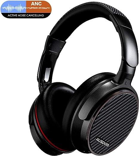 AUSDOM ANC7S Noise Cancelling Kopfh/örer Bluetooth Kopfh/örer Over Ear Headset mit Komfortablen Ohrpolstern