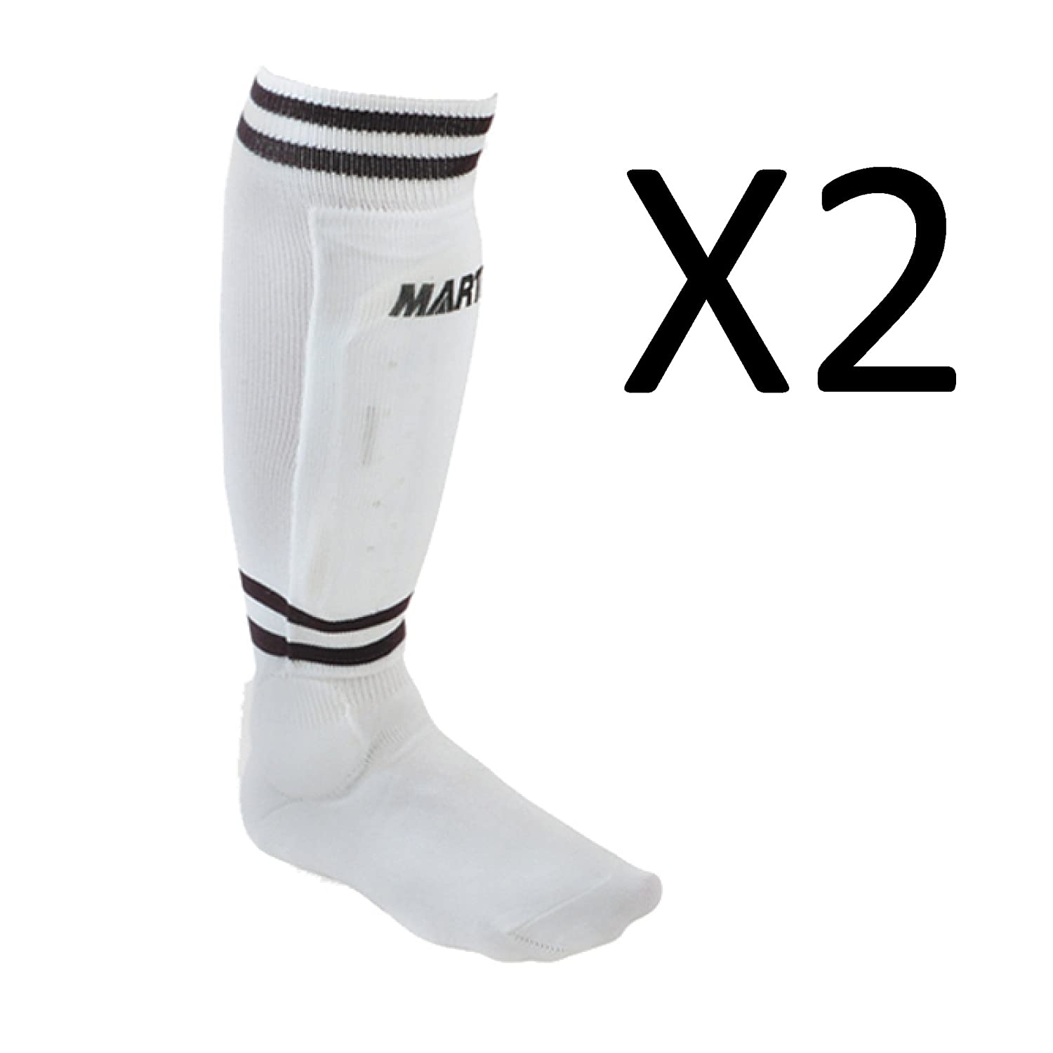 Martin Youth Soccer Shinguards Sock Shin Guard White Large soc8-wht ( 2 Pack ) B01LXXB9E1
