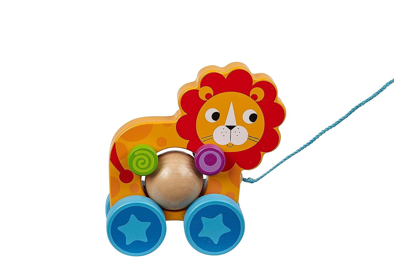 TOYSTERS プルアロン ライオン ウォーキング おもちゃ | 男の子と女の子用木製アニマルウォーカー おもちゃ | 幼児の赤ちゃんへの贈り物 1歳以上 | (PU500)   B07KPD2DN2