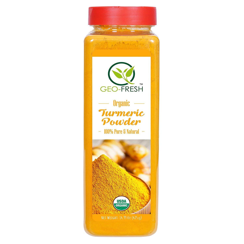 Fresh Organic Turmeric Powder (425 Gr X 3 PKTS. - USDA Certified