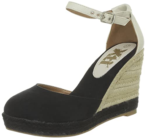 Xti 25889, Alpargatas para Mujer, Noir (Negro), 37 EU: Amazon.es: Zapatos y complementos