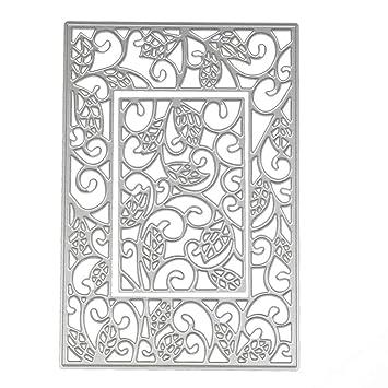 KIMODO Plantillas de corte de metal, diseño de palabras de animales, plantillas de repujado para manualidades, álbumes de recortes, tarjetas de papel, ...