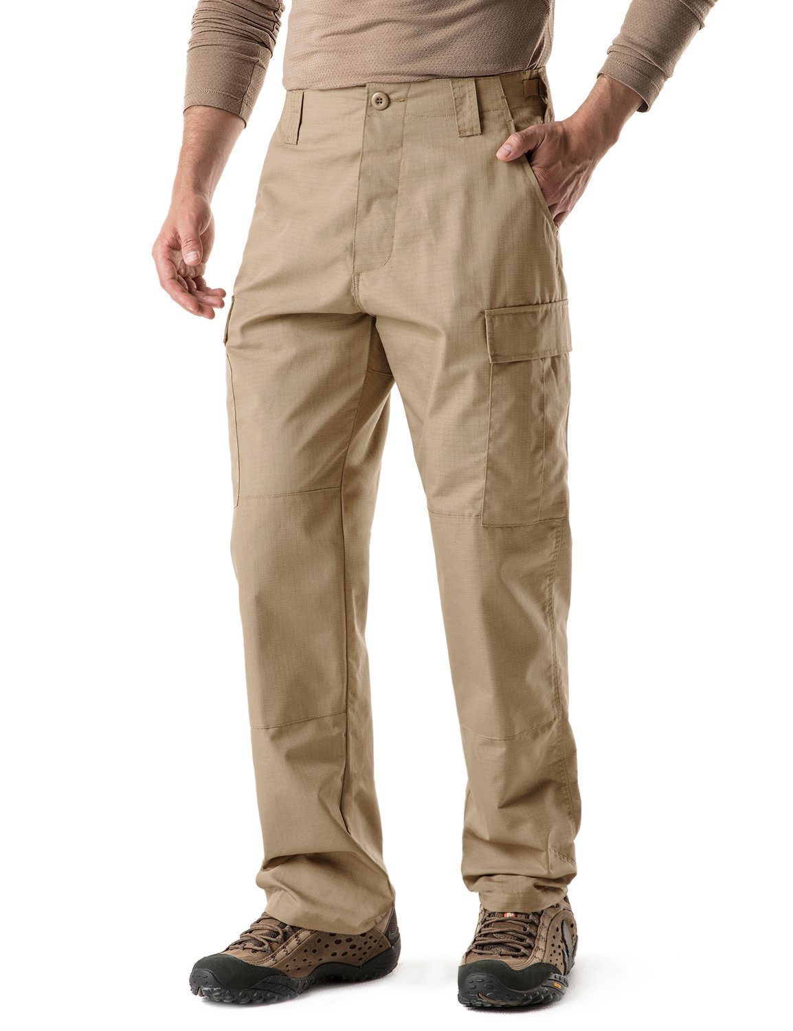 CQR CQ-UBP01-KHK_M/Regular Men's BDU Rip Stop Trouser EDC Tactical Combat Pants UBP01 by CQR