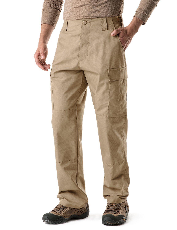 CQR CQ-UBP01-KHK_M/Regular Men's BDU Rip Stop Trouser EDC Tactical Combat Pants UBP01