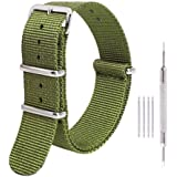 Ritche Premium NATO Strap 18mm 20mm 22mm Nylon Replacement Watch Band for Men Women