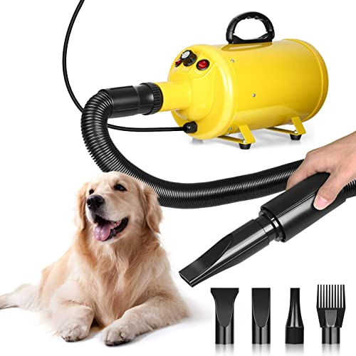 Amzdeal Dog Dryer 3.8HP 2800W Stepless Adjustable Speed Dog Hair Dryer, Professional Pet Grooming Blower