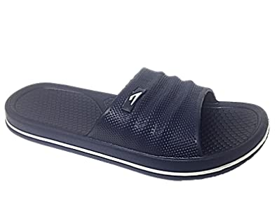 3f891110214f Image Unavailable. Image not available for. Colour  Mens 701203 Galop Beach  Pool Sliders Flip Flops Slip On Mules Shower Sandals Shoes Size 6