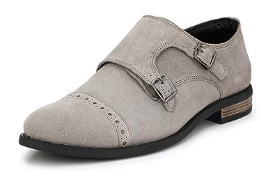 76f957d0 Saddle & Barnes Men's Leather Monk Strap Shoes: Buy Online at Low ...