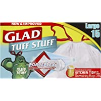 Glad Tuff Stuff Kitchen Tidy Bags, 15 count