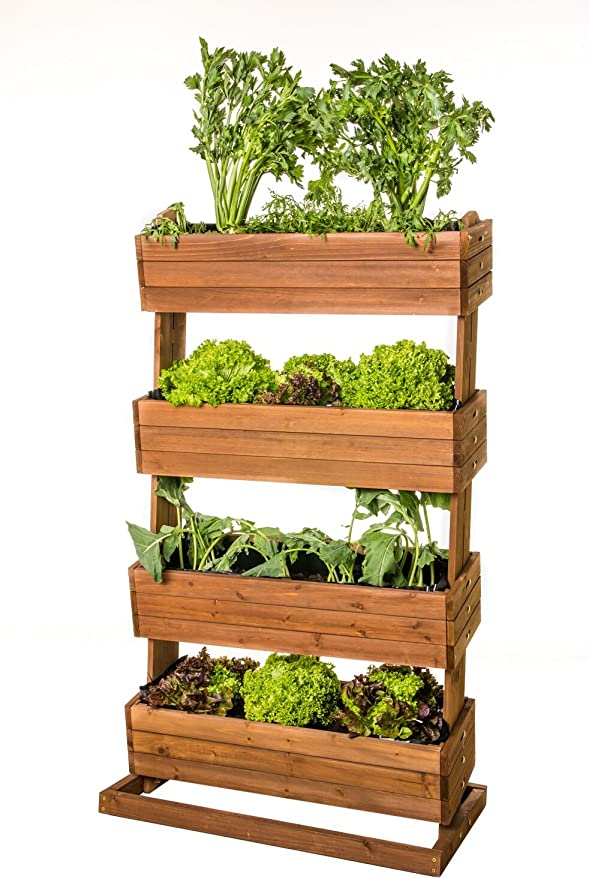 Home Garden Brend Bancal vertical, madera auténtica, 82 cm de ...