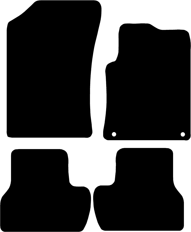 Connected Essentials CEM300 Citroen C3 2009-2012 Black with Black Trim Car Mat Set 3mm Rubber