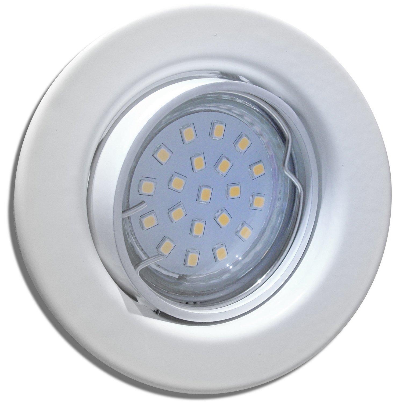 8 Stück SMD LED Einbaustrahler Milena 12 Volt 5 Watt Schwenkbar Weiß Neutralweiß