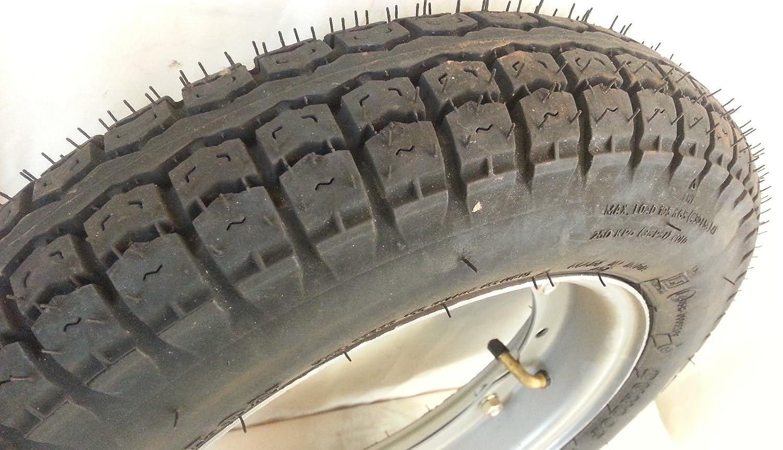 Complete wheel 3.50 –  10 51J Dunlop maxi-life Piaggio Vespa PX 125 –  150 –  200 cc RMS