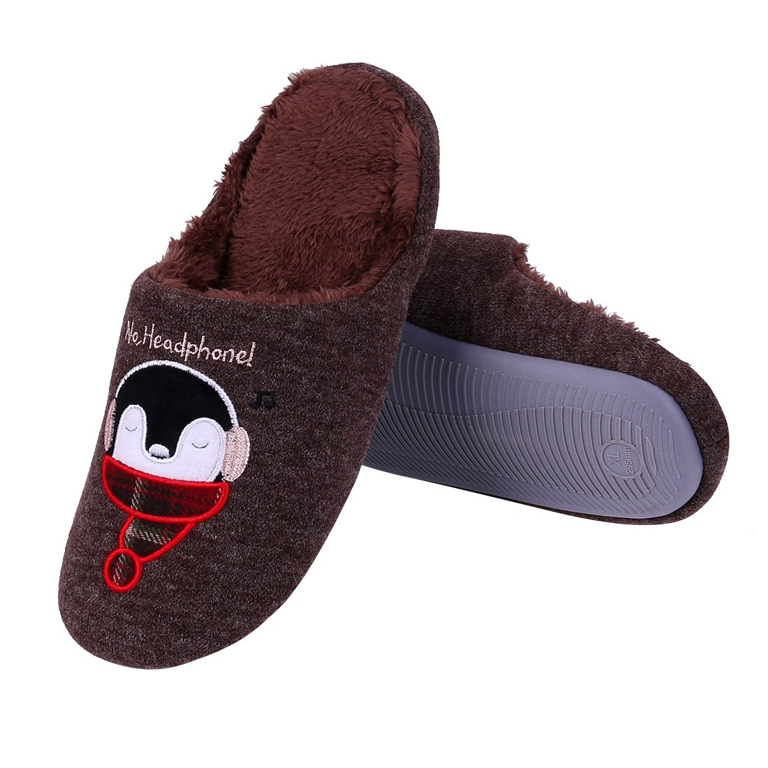 Cute Animal Fuzzy House Slippers Hedgehog Kids Dog Brown Family ...