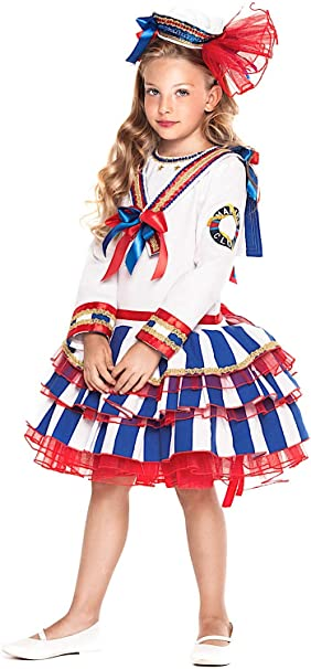VENEZIANO Disfraz Marinero SEORA Vestido Fiesta de Carnaval Fancy ...