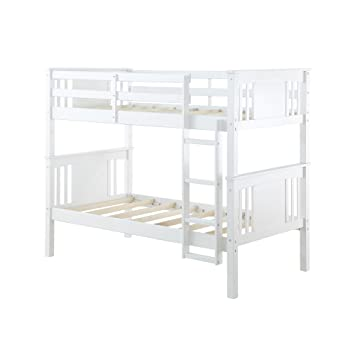 Amazon Com Dorel Living Dylan Kids Bunk Beds With Guard Rail And