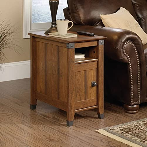 Loon Peak Newdale End Table with Storage, Side Table Washington Cherry