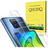 QHOHQ 2 Pack Screen Protector for Xiaomi Redmi Note 9 with 2 Packs Camera Lens Protector, Tempered Glass Film, [9H…