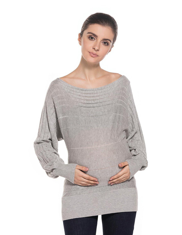 Modetrend Femmes Chandail Maternité Grossesse Pull En Tricot Manches Longues Casual En Vrac Cardigan Pullover