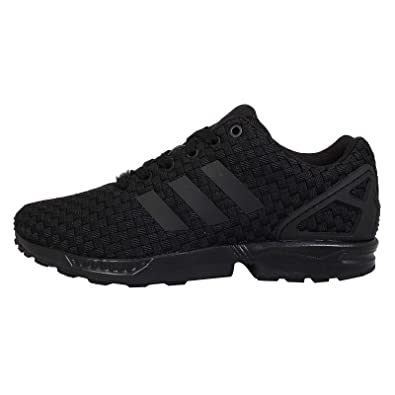 big sale 66981 7025b adidas Originals ZX Flux Woven Mens Trainers B34005 - Triple ...