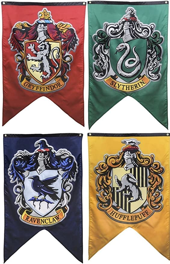 Harry Potter Hogwarts House Wall Banners Gryffindor Slytherin
