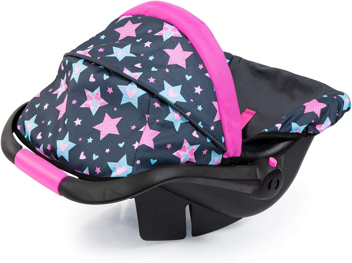 Accesorios 67906AA Color Negro Asiento para beb/é de mu/ñecas Hada con Estampado Bayer Design- Silla de Coche Easy go