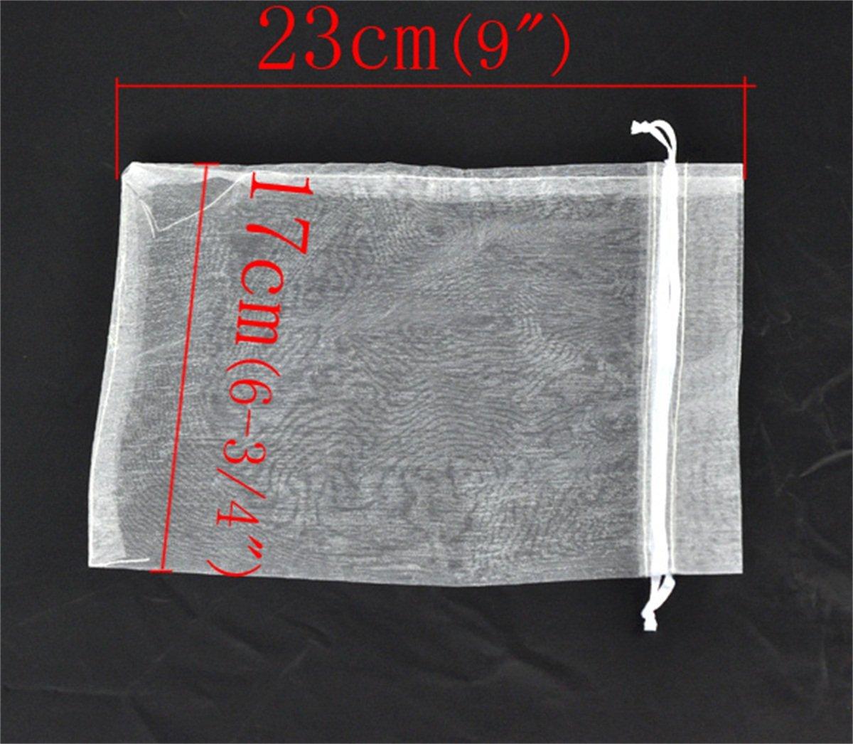 Amazon.com: 17 cm x23 cm Color Blanco Regalo Bolsas joyería ...
