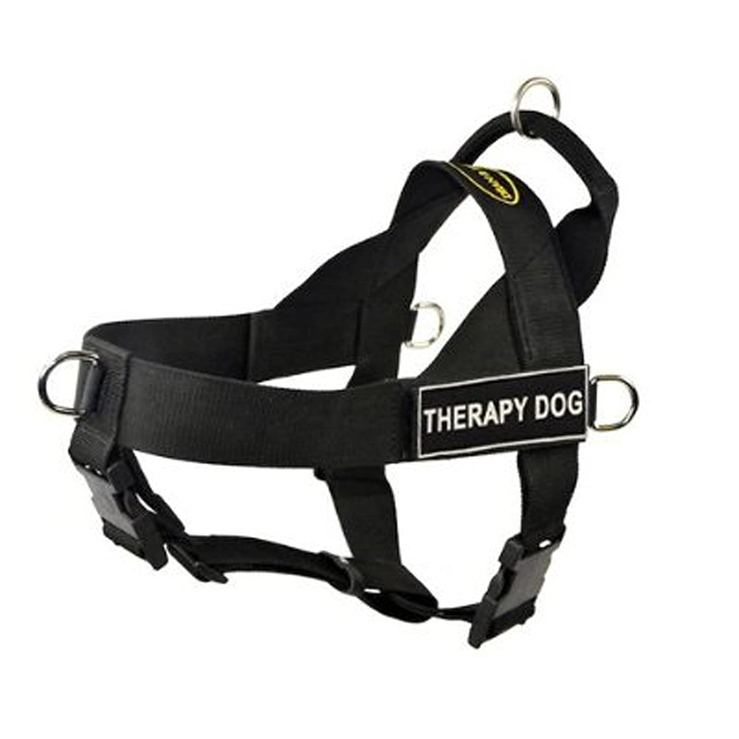 DT Universal No Pull Dog Harness, Therapy Dog, Black, X-Large Fits Girth Size  37-Inch to 47-Inch