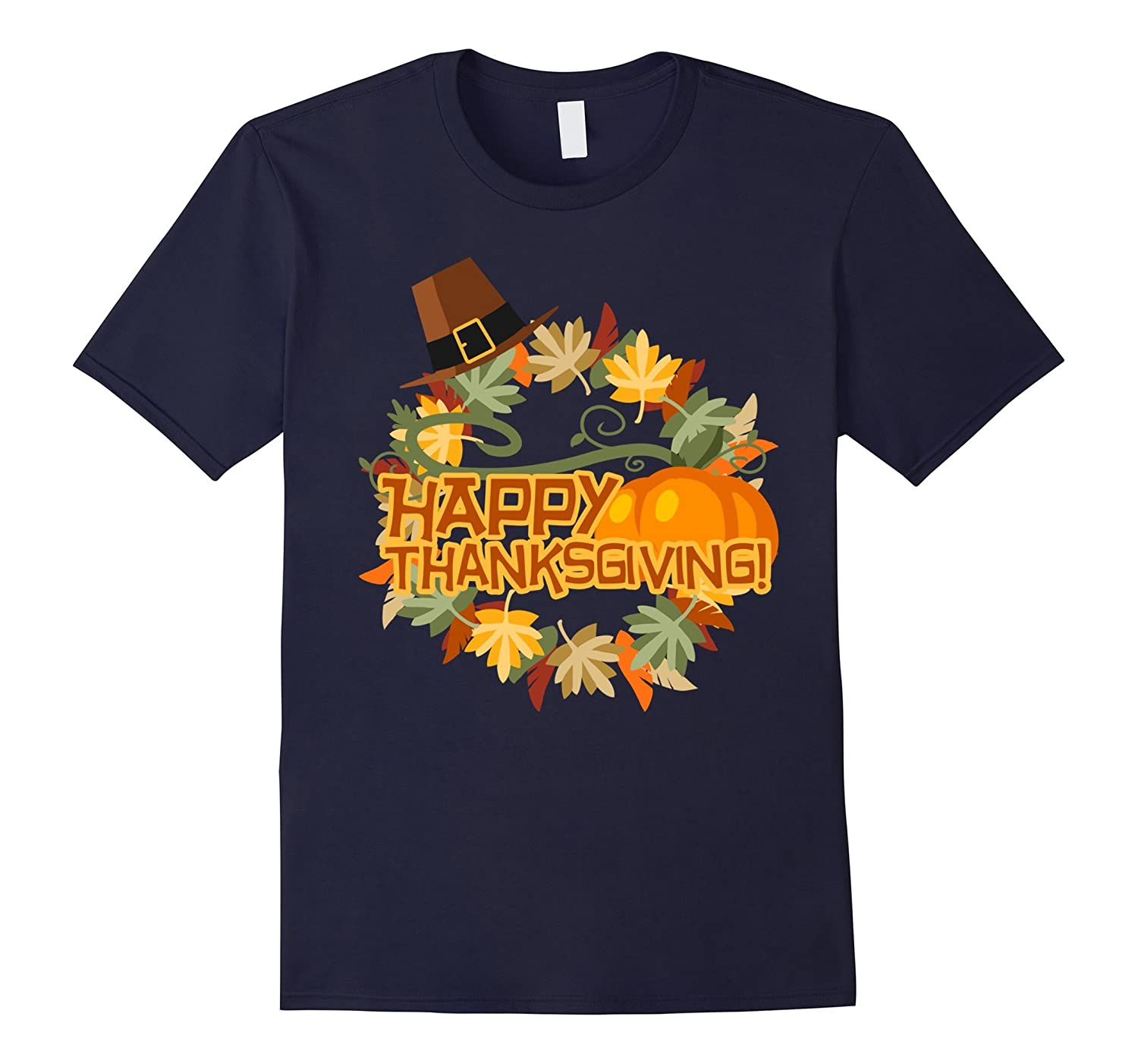 Thanksgiving Apparel T Shirts Pumpkin Turkey Shirt-FL