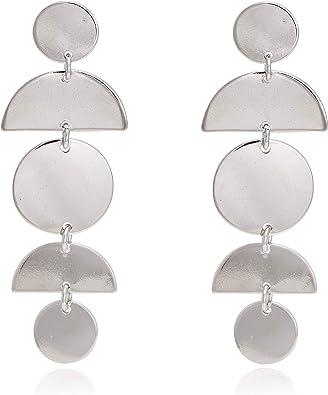 Fashion Multi-couleur multi-couche Large Cercle Géométrique Boucles d/'oreilles femme bijoux