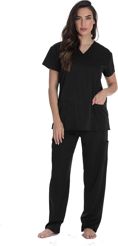 Just Love Women's Scrub Sets Six Pocket Medical Scrubs (V-Neck with Cargo Pant) 710zDfc2XML