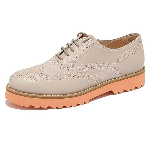 Hogan 9766M Francesina Scarpe Sneaker Donna shoesn Woman Beige  36 ... 3599f2a5c07
