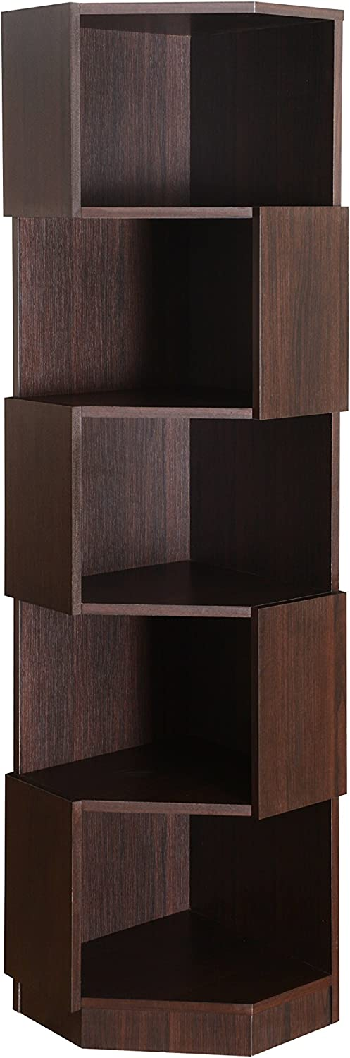 Furniture of America Bassey Bookcase Display, Espresso