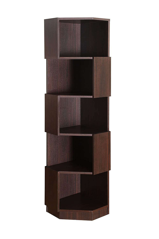 Furniture of America Bassey Bookcase Display, Espresso