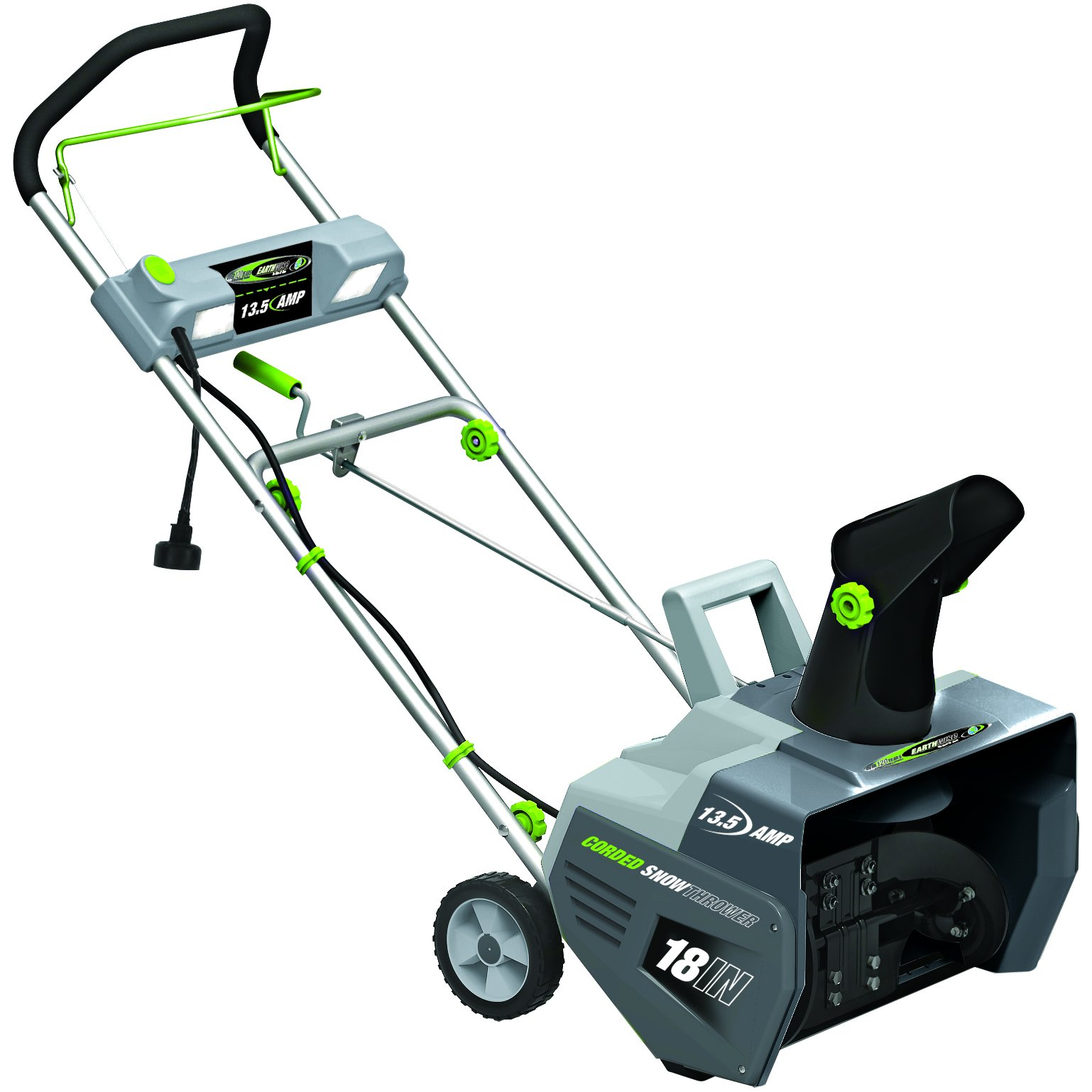 Earthwise SN72018 Electric Corded 13.5 Amp Snow Thrower, 18'' Width, LED Lights, 700lbs/Minute by Earthwise