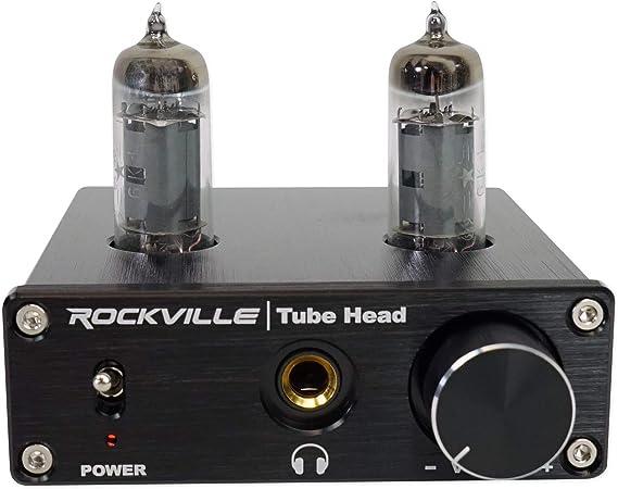 Rockville TubeHead Tube Headphone Amplifier Amp / 6K4 Tubes / 16-300 Ohms/180mW
