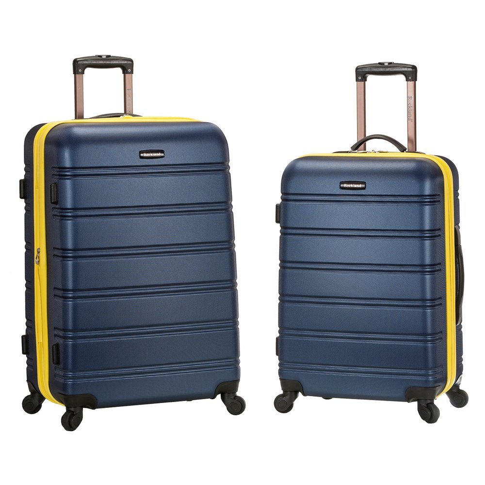 Navy Rockland Luggage 20 Inch and 28 Inch 2 Piece Expandable Spinner Set